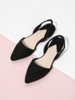 Poitned Sling Backs Colors Black Or Pink