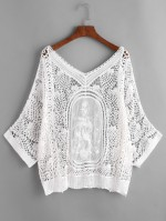 V Line Beach Cover Crochet Lace $35